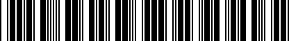 Barcode for 5G4071126