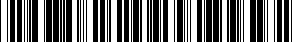 Barcode for DRG019480